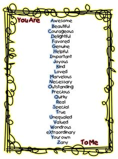 First Grade Wow  Great alphabetic adjective poem...   Think would work for 4th grade, too!