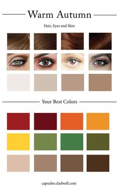 How To Create Your Personal Color Palette (Plus Take Our Color Quiz) — Cladwell Deep Autumn Color Palette, Soft Summer Palette, Color Type, Eye Color, Summer Color Palettes, Color Quiz, Colours That Go Together, Clear Winter, Clear Spring