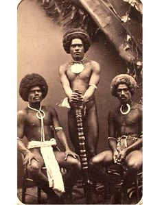 Photograph of three Fijian Men