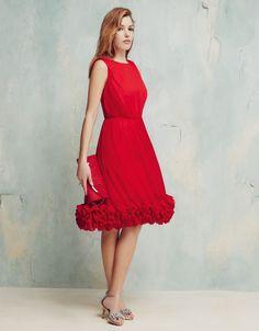 Dahlia Dress   Red   Monsoon