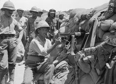 PHOTOGRAPHS RELATING SERVICE H T ANDREW MEDICAL OFFICER WITH 29TH DIVISION DURING... (HU 105658)   Vickers machine gun post in 29th Division's line at Helles, Gallipoli.