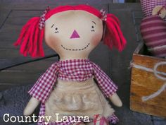 Raggedy Ann primitive made by Country Laura