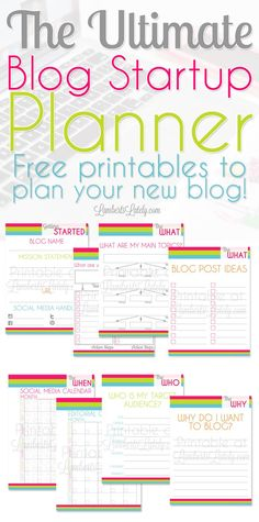 This is a great set of free blogging printables for new bloggers! This planner helps you find a focus, demographic, and goals for your blog before you start. #bloggingtips #bloggingresources #bloggertips