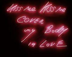 light, kiss, and neon image