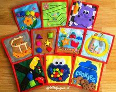 Kochen ruhiges Buch für Kleinkinder Montessori 3 Seiten | Etsy Baby Quiet Book, Quiet Books, Book Activities, Toddler Activities, Baby Toys, Embroidery Monogram Fonts, Felt Books, Children's Books, Monogram Alphabet