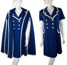 Classic mod dress and cape set.