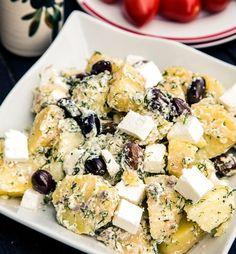 gorog-burgonyasalata Potato Recipes, Baby Food Recipes, Pasta Recipes, Cooking Recipes, Hungarian Recipes, Romanian Recipes, Mini Pizza, Romanian Food, Tasty
