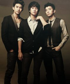 Taecyeon, Kim Soo Hyun, and Wooyoung <3