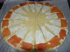 mini croissant-saumon fumé et bourin...