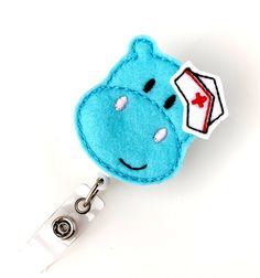 Get Well Hippo  Pediatric Nurse Badge  Peds RN by BadgeBlooms, $7.50