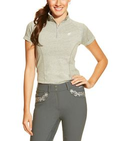 Another great find on #zulily! Heather Gray Odyssey Quarter-Zip Seamless Polo #zulilyfinds