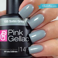 Pink Gellac Satin Grey at Chickettes.com