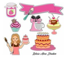 Cupcake Toppers Free, Cupcake Pictures, Cake Logo, Paper Cake, Party Props, Cake Creations, Diy Doll, Bookbinding, Happy Planner