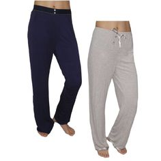 (Pack of 2) Womens Fall / Winter Pajama Pants 16/2XL Dark Blue & Grey Extremely high quality fabric: 76% viscose, 19% polyester, 5% elastane; 95% viscose, 5% elastane; Machine washable.. Very high quality womens - satisfaction guaranteed!. Fabric covered elastic waistband for added comfort (One of them the waistband with drawstrings).. Relaxed styling provides a comfortable and casual fit; Please ... #Sleepwear #Apparel