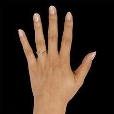 0.25 caraat diamanten solitaire design ring in geel goud met acht griffen