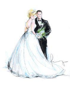 bride & groom | rosemary fanti - Wedding and Event Illustrator