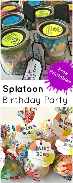 Splatoon Birthday Party! Great FREE resources for a Splatoon party.