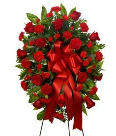 Rose Wreath Sympathy Bouquet Stand GET IT NOW- http://shop.o2o.com/item.php?LBB-vns837a7L-29674  #WeGiveBack #LeeannasLaBellaBaskets #giftstore #giftshop #personalizedgifts #freepersonalization #flowers #freshflowers #freshflowerbouquets #candles #cookiebouquets #plantablegreetingcards #giftbaskets #petgifts #giftsforpets  #GiftTowers #wine #winegifts #gifts #birthdaygifts #birthdays #holidays #justbecause #realtors #ClosingGifts #HousewarmingGifts #wallart #WallCanvas #chocolate…