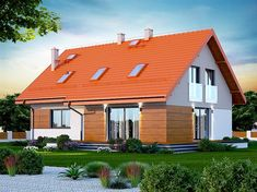 Projekt domu Darlena 143,55 m2 - koszt budowy - EXTRADOM Marsala, House Plans, Shed, Outdoor Structures, Cabin, House Styles, Outdoor Decor, Home Decor, Decoration Home
