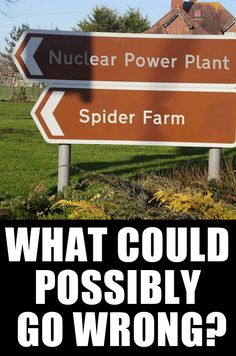 Nuclear plant and spider farm