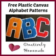 Get your Free Plastic Canvas Alphabet Patterns. You can use them to make banners, alphabet magnets for kids, and more! #plasticcanvas