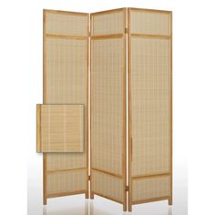Bayou Breeze Staley 3 Panel Room Divider   Wayfair Office Room Dividers, Wooden Room Dividers, Sliding Room Dividers, Bamboo Room Divider, Diy Room Divider, Panel Room Divider, Divider Ideas, Divider Design, Floor Screen