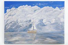 GameelArt gameelart.com  #art #painting #acryl #acrylic #stockholm #sailboat #clouds #sweden #nature #landscape #acrylicpaint #myart #creativity #artgallery #sailing #picture #artist #artsy #instaart #gallery #creative #instaartist #artoftheday #ocean #water #sea #inspiration #sailing #reflection #originalart  by gameelart