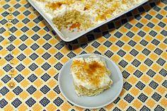 #Fantakuchen mit Joghurt-Mango-Topping Cake with lemonade and yoghurt mango topping