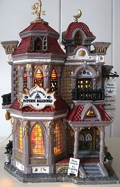 LEMAX 2004 PUMPKIN HOLLOW HALLOWEEN ISABELLA'S PSYCHIC READINGS LIGHTED HOUSE | eBay Halloween Wishes, Halloween Village, Halloween Displays, Halloween Doll, Halloween House, Halloween Christmas, Spooky Halloween, Halloween Decorations, Halloween Ideas