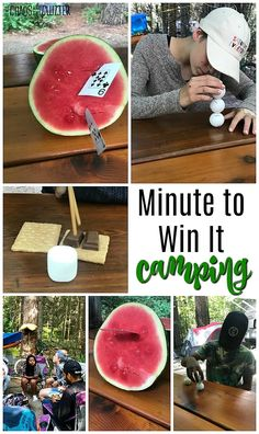 Want to make your camping trip even more memorable? These easy to set up Minute to Win It camping games will have everyone laughing in no time! Camping Games Kids, Camping Diy, Backyard Camping, Scout Camping, Camping Theme, Camping With Kids, Camping Hacks, Camping Ideas, Camping Coffee