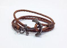pulseira-masculina-feminina-couro-trancado-e-ncora-navy-21617-MLB20213675533_122014-O.jpg (500×358)