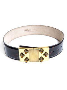 Alexander McQueen Bee buckle belt