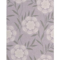 Flora Lavender Wallpaper Sample
