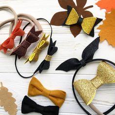 Halloween headband bow black glitter bat bow gold #BlackGlitter
