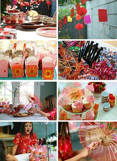China Chic Birthday Party Inspiration Insp board at… Chinese Birthday, Japanese Birthday, Chinese New Year Party, New Years Party, Japanese Theme Parties, Japanese Party, Asian Party Themes, Party Ideas, Party Fun