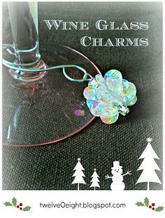 Wine Glass Charms-twelveOeight #diy #dollar store #wine glass #charm