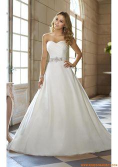 Robe de mariage bustier organza perles