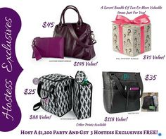 Host a party and get 3 hostess gifts! Thirty One Hostess, Thirty One Fall, Thirty One Party, Thirty One Gifts, Hostess Gifts, Thirty One Business, Thirty One Consultant, 31 Gifts, Thing 1