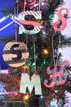 #NUO2012 Washi Tape Ornaments @HeidiKundin