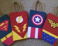 Super Hero Goody Bags - Womens Batman - Ideas of Womens Batman - Super Hero Goody Bags Avengers Birthday, Superhero Birthday Party, 3rd Birthday Parties, Boy Birthday, Wonder Woman Birthday, Wonder Woman Party, Dc Super Hero Girls, Trick Or Treat Bags, Party Bags