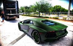 "2013 Lamborghini Aventador ""The Green Goblin""COLOR"