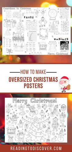 Countdown to Christmas Posters | Reading to Discover Preschool Christmas Activities, Toddler Preschool, Toddler Activities, Preschool Activities, Christmas Countdown, Christmas Crafts, Engineer Prints, Poster On, Advent