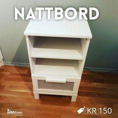 Se hva jeg selger på Tise Nightstand, Ikea, Table, Furniture, Home Decor, Bedside Desk, Night Stands, Interior Design, Home Interior Design