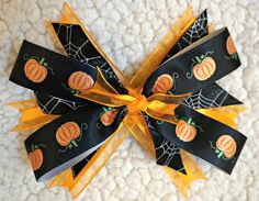 LovelyLake Halloween Stacked Bow by LovelyLake on Etsy, $8.00