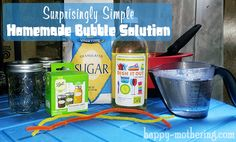 Super easy bubble solution!