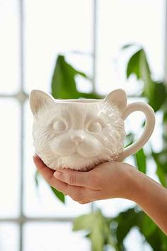 Plum & Bow Cat Face Mug