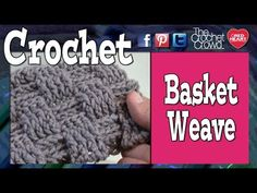 How To Crochet A Basket Weave Stitch - YouTube