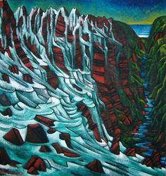dean buchanan painting of waterfall - Google Search Dean, Waterfall, Google Search, Painting, Beautiful, Art, How To Paint, Craft Art, Painting Art