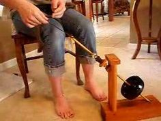 Mother Marion Spinning Wheel or Kick Wheel/Spindle Demo - YouTube. Now I REALLY want one of these!