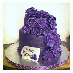Purple Birthday Cake Made by Kiyomi Sakamoto